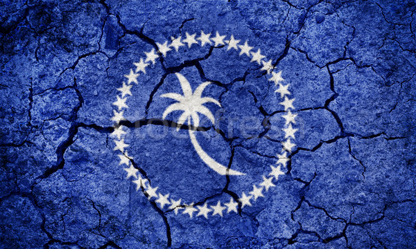 Micronésia bandeira secar terra terreno textura Foto stock © grafvision