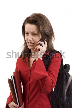 Beautiful female student Stock photo © grafvision
