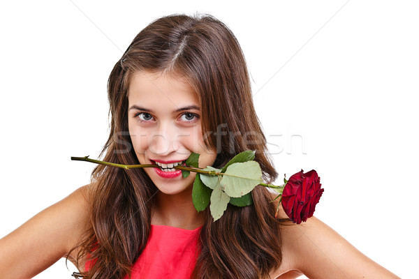 Woman with rose Stock photo © grafvision