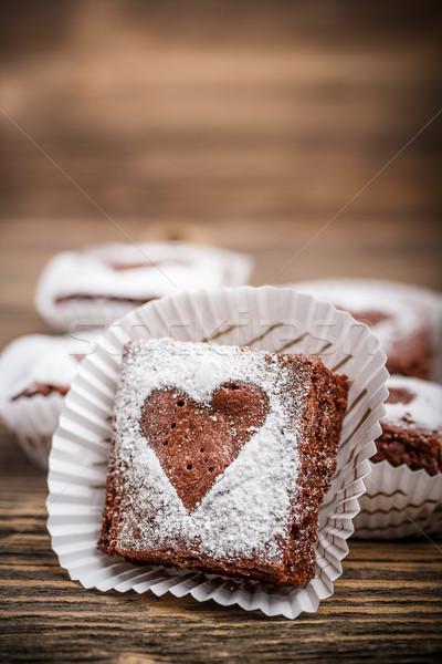 Chocolate día de san valentín fiesta alimentos azúcar cookie Foto stock © grafvision