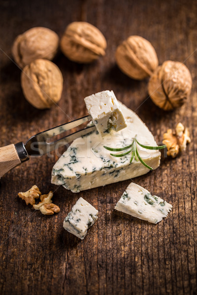 Saboroso queijo azul vintage superfície Foto stock © grafvision