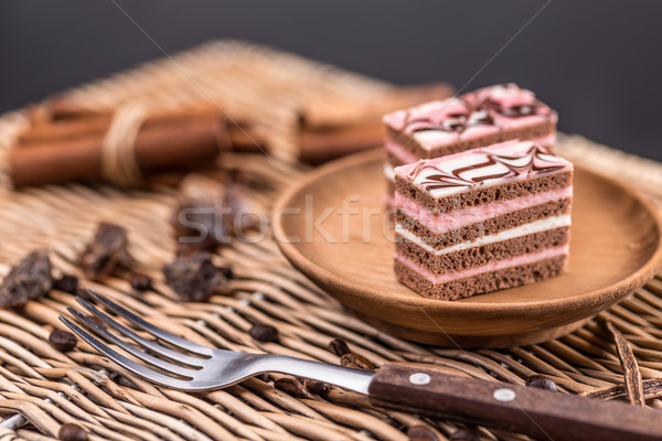 Decorative layered desserts Stock photo © grafvision