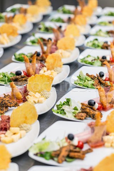食品 ビュッフェ 高級 レストラン パーティ キッチン ストックフォト © grafvision