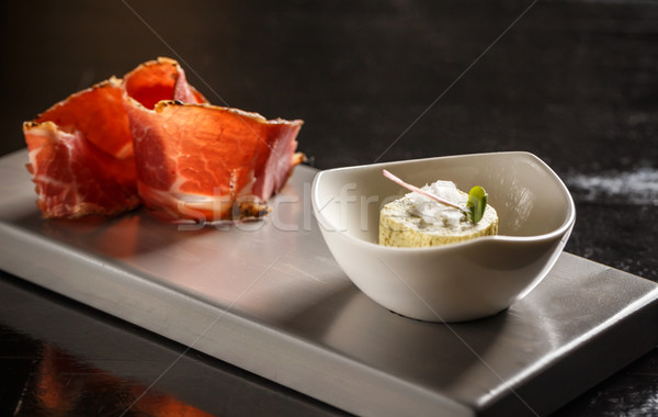 Compound butter with prosciutto Stock photo © grafvision