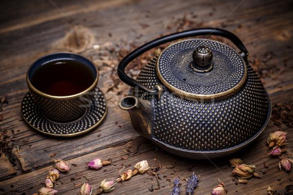 Asian tea set Stock photo © grafvision