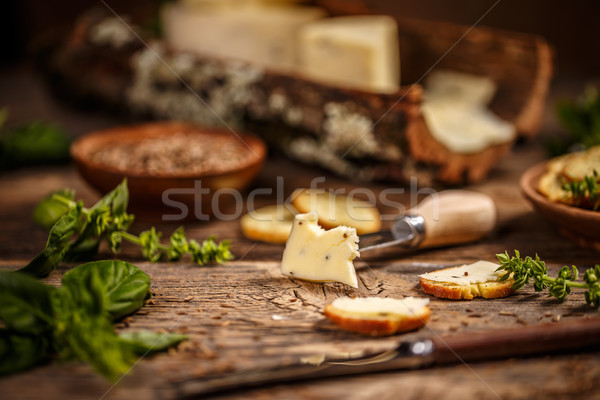 Cheese with caraway seeds  Stock photo © grafvision