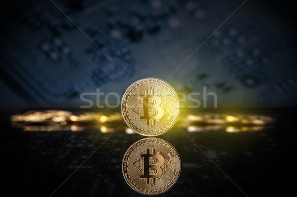 Virtual cryptocurrency concept Stock photo © grafvision
