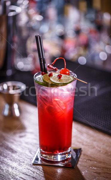 Non-alcoholic pomegranate cocktail Stock photo © grafvision