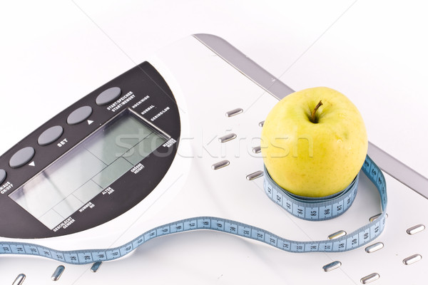 apple and measuring objects Stock photo © grafvision