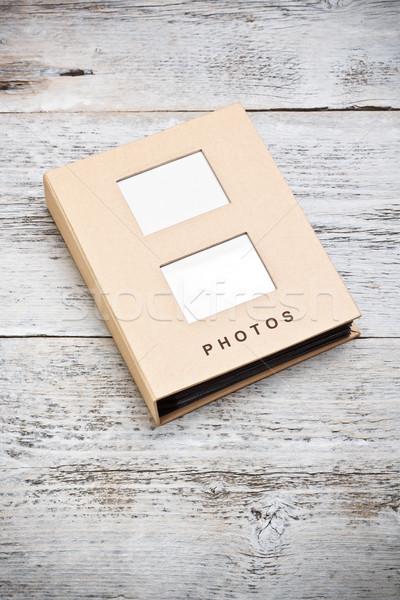 Fényképalbum festett fából készült papír portfólió album Stock fotó © grafvision