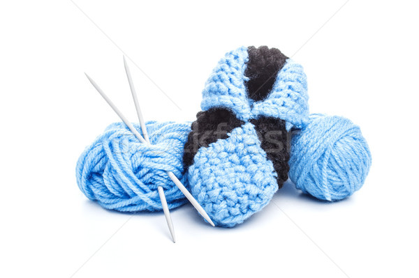 Stock photo: Knitting, skein and needles