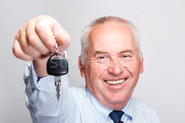 Araba anahtarları iş adamı araba adam işadamı satış Stok fotoğraf © grafvision