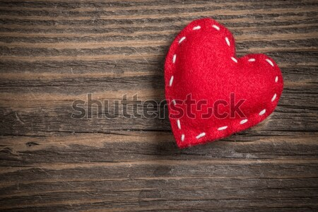 Two red felt hearts Stock photo © grafvision
