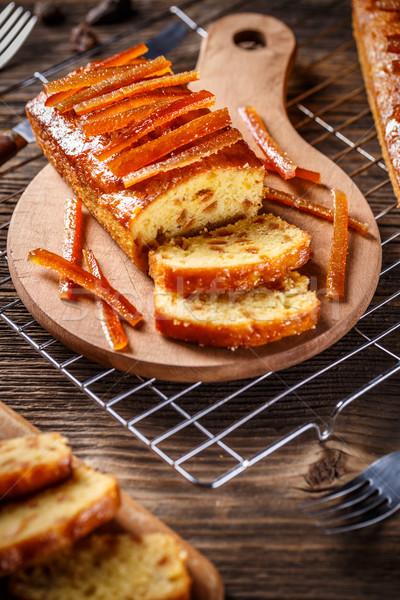 Fruitcake with candied orange zest  Stock photo © grafvision