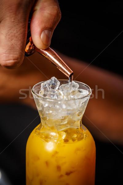 Bartender is working Stock photo © grafvision