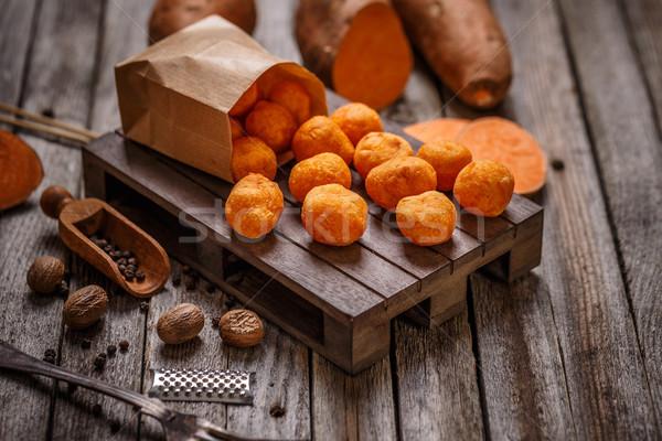 Thai patata dolce legno alimentare Foto d'archivio © grafvision
