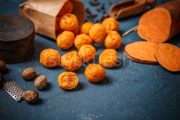 Mashed sweet potato balls Stock photo © grafvision