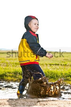 Little boy jumping Stock photo © grafvision