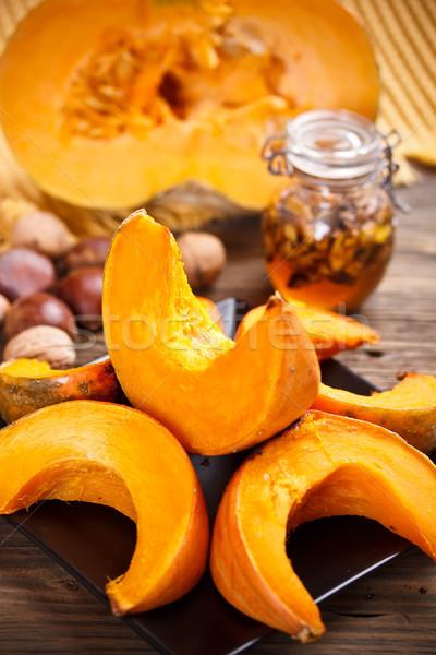 Oven roasted pumpkin Stock photo © grafvision