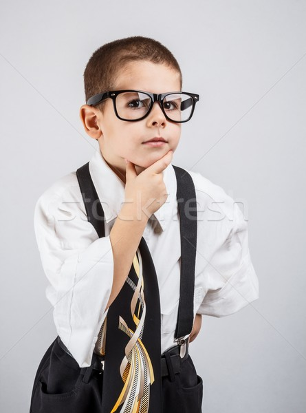 Little boy in a business suit  Stock photo © grafvision