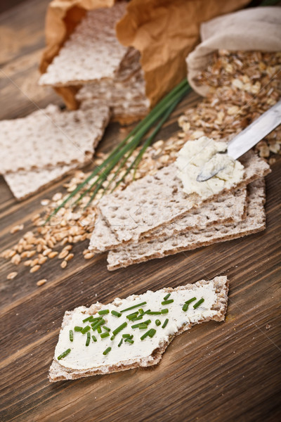 Stock photo: Wholemeal crispbread