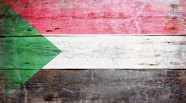 Flag of Sudan Stock photo © grafvision