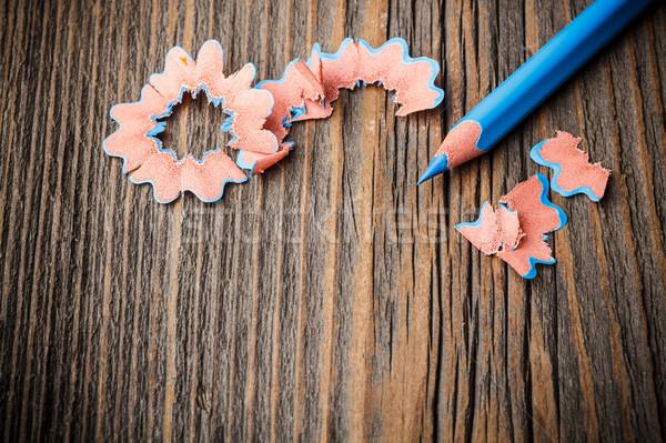 Blue color pencil Stock photo © grafvision
