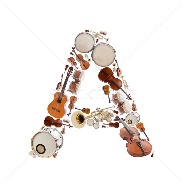 Musical instruments alphabet Stock photo © grafvision