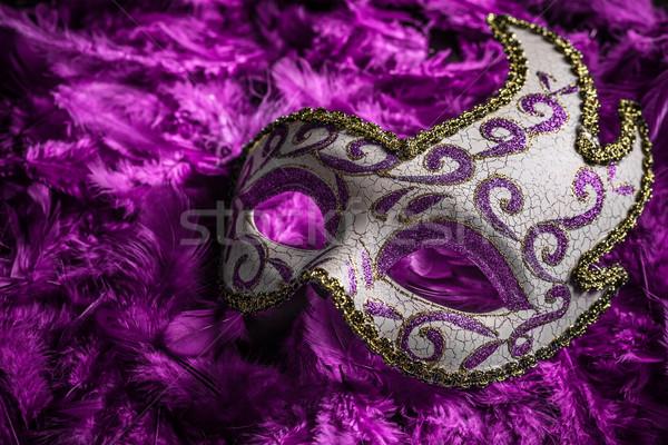 Stok fotoğraf: Kadın · karnaval · maske · yüz