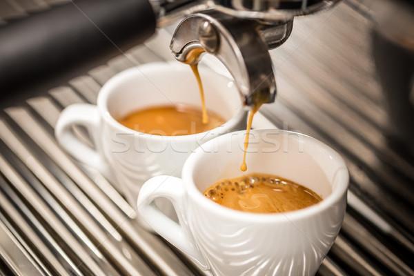 Espresso macchina caffè bianco coppe Foto d'archivio © grafvision