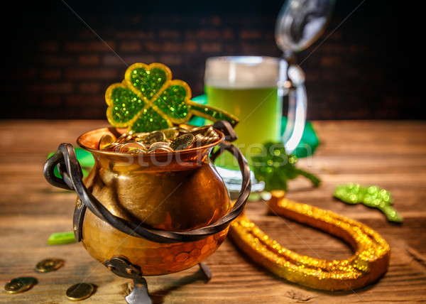Pot of gold with shove Stock photo © grafvision