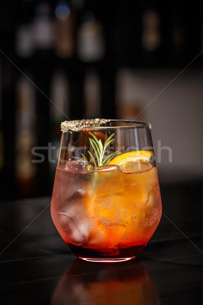 гранат оранжевый коктейль зима осень воды Сток-фото © grafvision