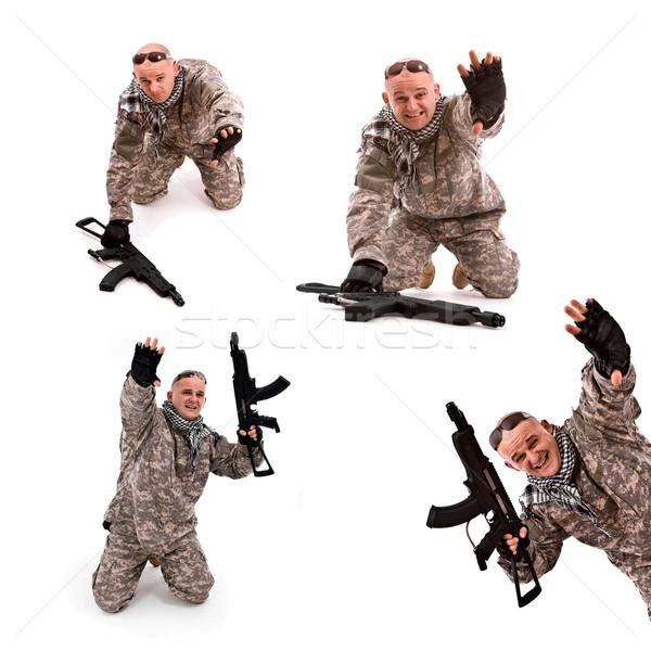 soldier surrender Stock photo © grafvision
