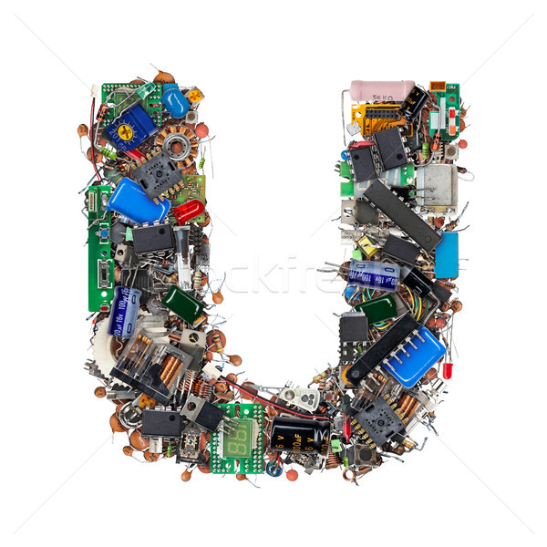 Letter U made of electronic components Stock photo © grafvision