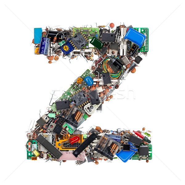 Stock photo: Letter Z made of electronic components