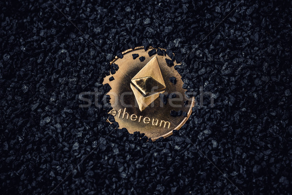Gold coin with cryptocurrency logo Stock photo © grafvision