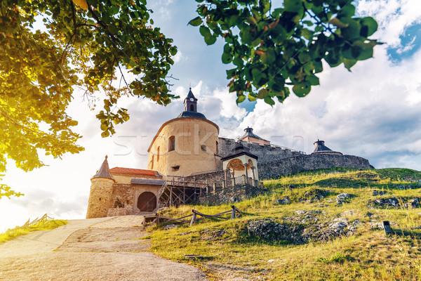 Kastély Szlovákia napos nyár nap épület Stock fotó © grafvision