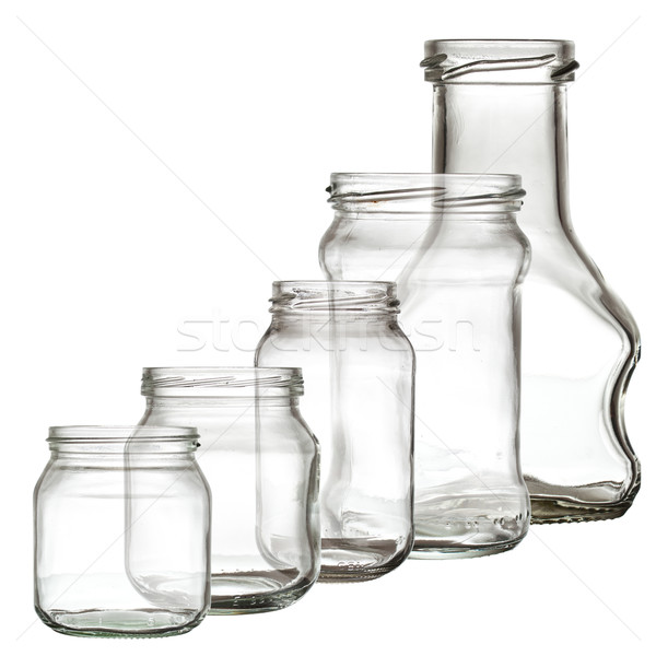 Collection of glass bottle Stock photo © grafvision