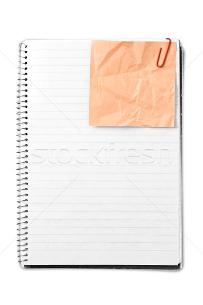 Levélpapír közelkép spirál üzlet textúra iskola Stock fotó © grafvision