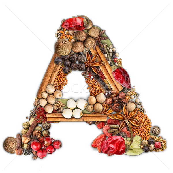 Stock photo: Spices letter