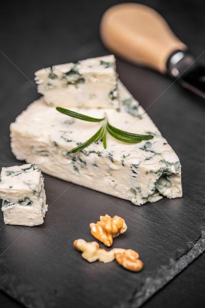 おいしい ブルーチーズ ナット 暗い チーズ 製品 ストックフォト © grafvision