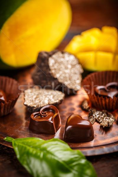 Gourmet chocolate praline Stock photo © grafvision