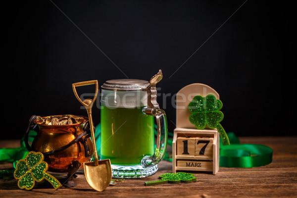 Pot goud schop bier achtergrond kalender Stockfoto © grafvision