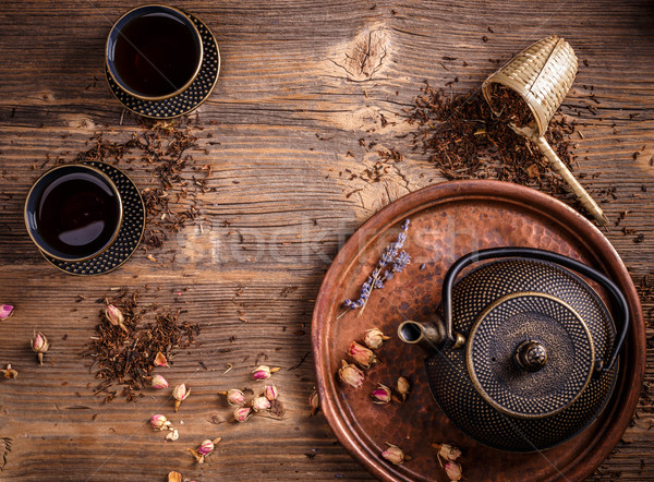 Theepot afbeelding traditioneel Oost drinken beker Stockfoto © grafvision
