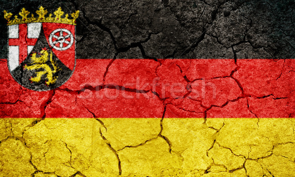 Rhineland-Palatinateon, state of Germany, flag Stock photo © grafvision