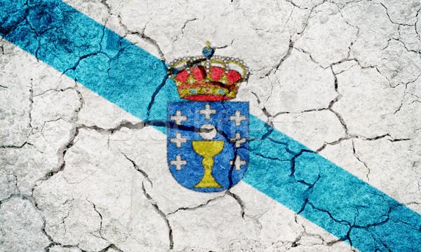 Galicia, autonomous community of Spain, flag Stock photo © grafvision