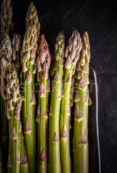 Fresche asparagi nero alimentare vegetali dieta Foto d'archivio © grafvision