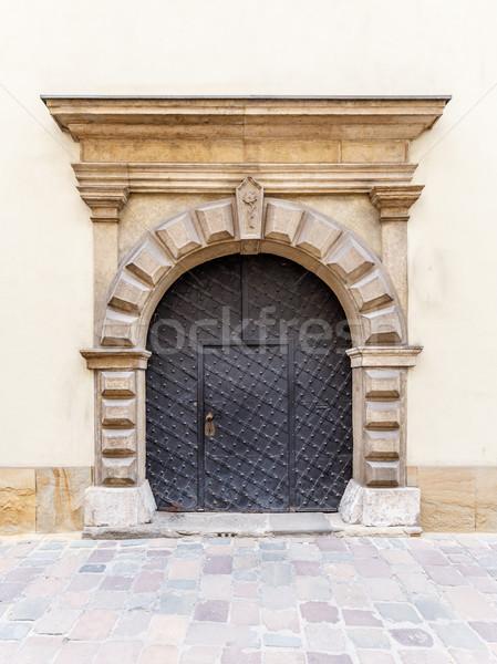 Vecchio metal arch porta gestire sfondo Foto d'archivio © grafvision