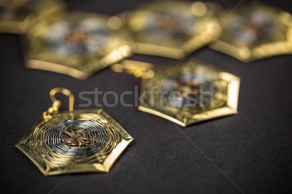Hexagonal earring Stock photo © grafvision