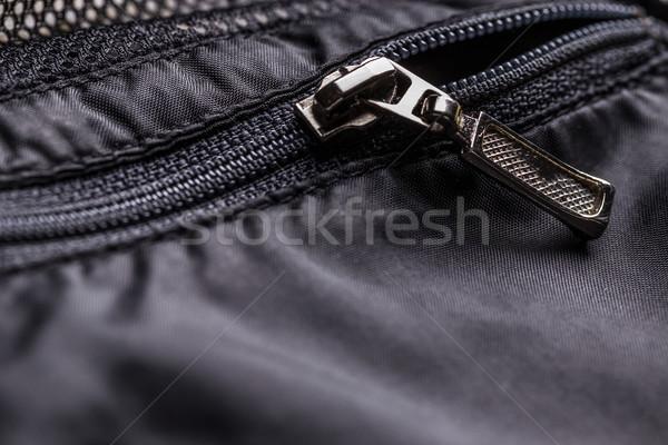Zíper jaqueta bolso inverno textura Foto stock © grafvision